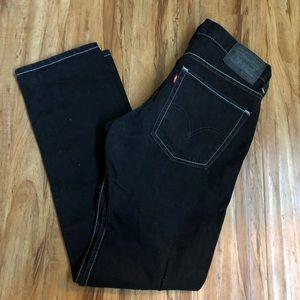 LEVIS 511 32x30 Dark Wash Black White Stitching